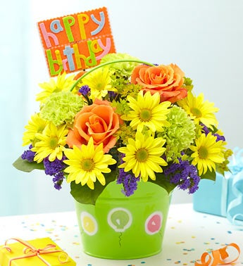 Local Flower Delivery on Bucket Of Birthday Wishes    From 1 800 Flowers Com 17369