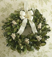 Preserved Dried Sympathy Wreath - 16""