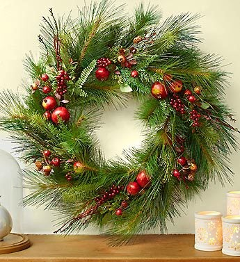 Holiday Classic Pinecone & Berry Wreath & Garland
