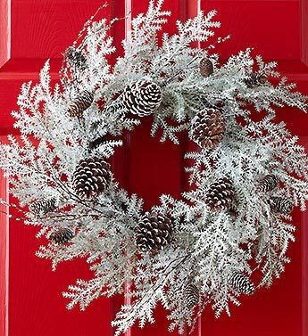 Winter Snowfall Wreath
