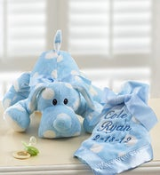 Puppy with Personalized Blanket for Boy