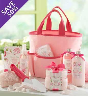 pink gardening tote