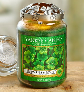 Lucky Shamrock Candle With Illuma-Lid Shamrock