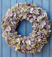 Silk Purple Hydrangea Wreath