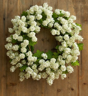 Silk White Hops Wreath