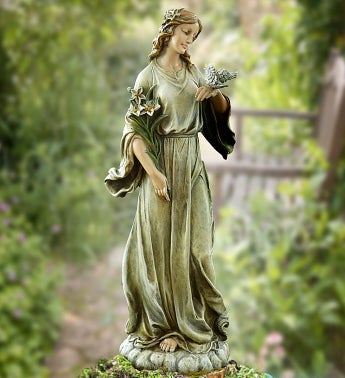 "Angel with Dove 24"" Statue"