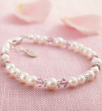 Child Crystal Birthstone Bracelet-June