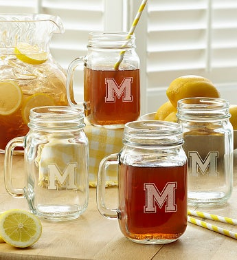 Personalized Mason Jar Set