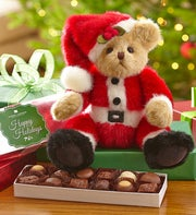 "Bearington� ""Santa Beary"" Bear with Chocolate"