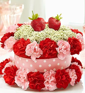 Fresh Flower Cake? Strawberry Shortcake