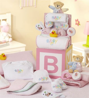 B-is-for-Baby Girl Grand Gift Block