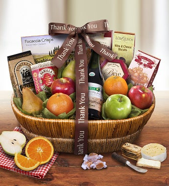 Thank You Fruit Gift Basket - 1800baskets.com