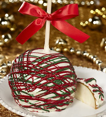 Deck the Halls Holiday Caramel Apple
