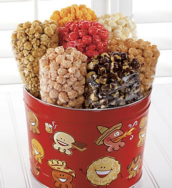 The Popcorn Factory� Popcorn Pals 7-Way Tin
