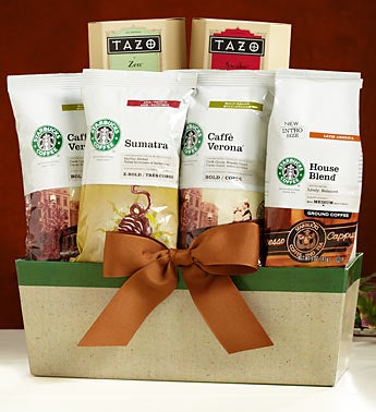 Starbucks Blends Gourmet Coffee Gift Basket