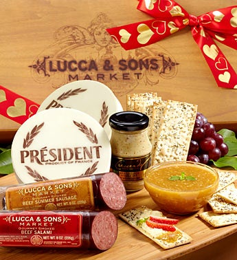 Lucca & Sons? Valentine?s Meat & Cheese Box