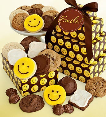 Cheryl's Happy Face Cookie Gift Tower