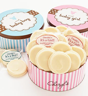 Cheryl's Sweet New Baby Girl Gourmet Cookie Tin