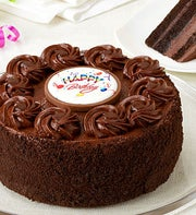 Junior's Happy Birthday Chocolate Fudge Cake