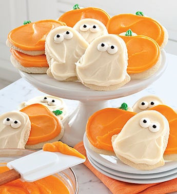 Cheryl?s Pumpkin & Ghost Cut-Out Cookies
