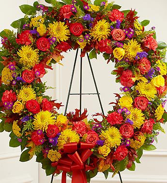 Serene Blessings Standing Wreath - Fall