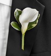All White Boutonniere