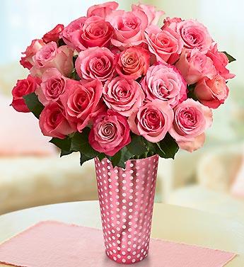 Raspberry Sorbet Roses, 12-24 Stems