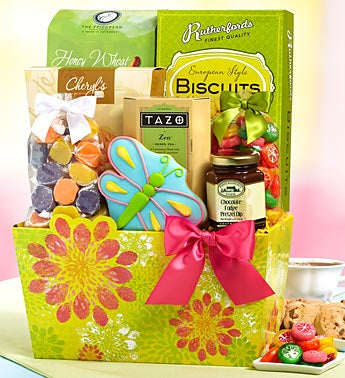 Glorious Garden Sweets Gift Basket