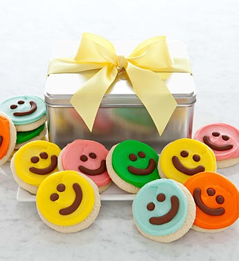 Cheryl?s Happy Faces Buttercream Cookie Gift Tin