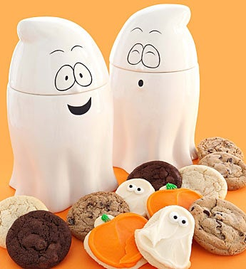 Cheryl's Ghost Cookie Jar with Assorted Cookies