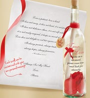 Personalized Message In A Bottle � True Love