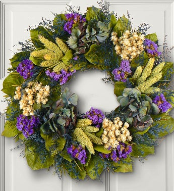 Blue Jewel Hydrangea Wreath