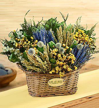 Fleurs Basket with Lavender Garden