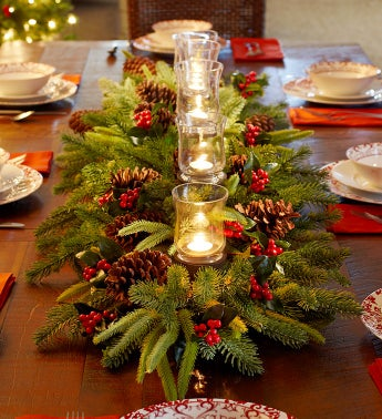 Evergreen Long Centerpiece