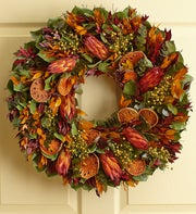Preserved Orange Protea Wreath ? 22""