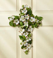 Dogwood Floral Cross