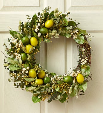 Citrus Delight Preserved Wreath