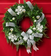 Silver Holiday Wreath