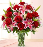 Holiday Rose and Lily Bouquet