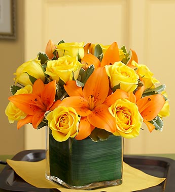 Fall Rose & Lily Bouquet
