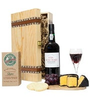 Fine Port and Cheese Gift Basket