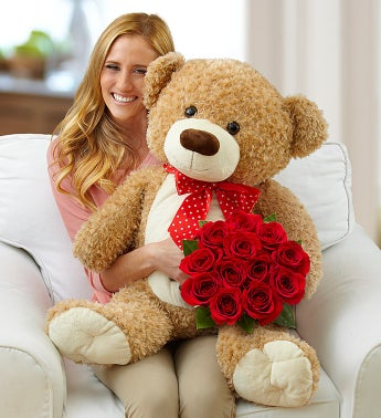 Big Bear with Roses