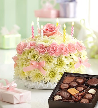 Birthday Flower Cake� with Free Chocolate