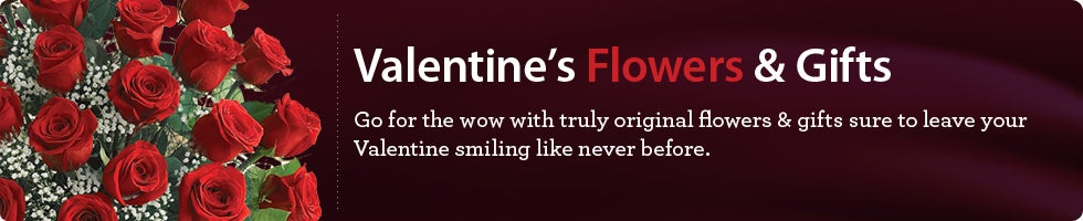 Valentine's Flowers, Plants & Gifts